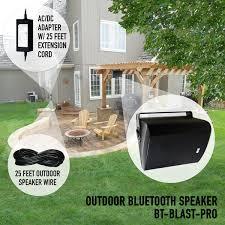 Wireless Outdoor Patio Speakers Bluetooth Outdoor Speaker With Long Range Audio Grade Bluetooth