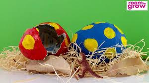 easter egg paper mache paper mâché dinosaur eggs