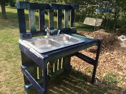 ideas accent your garden with splendid potting bench with sink
