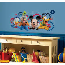 room mates mickey and friends mouse clubhouse capers giant mickey and friends mouse clubhouse capers giant wall decal