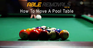 how to set up a pool table how to move a pool table transporting a pool table able removals