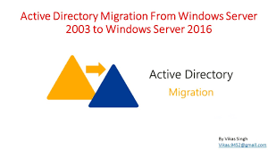active directory migration from windows server 2003 to windows