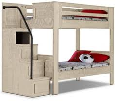 Phoenix White Twin Staircase Bunk Bed The Brick  Idolza - The brick bunk beds