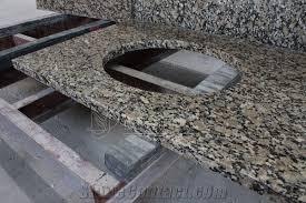 sesame gold granite bathroom vanity top with undermount sink