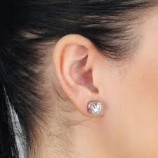 earrings on top of ear non pierced magnetic earrings cz studs clear