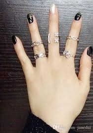 rings from jewelry images 2016 new style jewelry ring five suit hollow out rings heart jpg