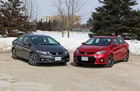 comparison test 2014 honda civic vs 2014 toyota corolla autos ca
