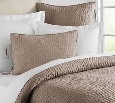When Can Baby Have Duvet And Pillow Pick Stitch Handcrafted Quilt U0026 Sham Pottery Barn