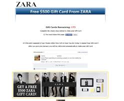 free e gift cards users scammed with zara h m gift cards