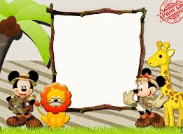 mickey minnie safari free party printables invitations