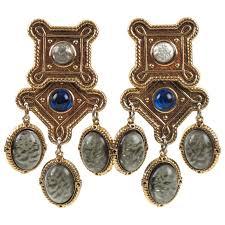 clip on dangle earrings zoe coste baroque chandelier clip on earrings poured glass