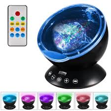 newest design remote control ocean wave projector 12 led u00267
