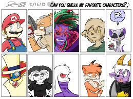 Saturn Meme - my favorite characters meme by mister saturn on deviantart