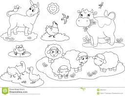 coloring farm animals 2 stock image image 26554041