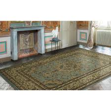 Rugs In Home Depot Ottomanson Traditional Oriental Medallion Light Blue 7 Ft 10 In