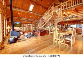luxury log home interiors cabin interior stock images royalty free images vectors