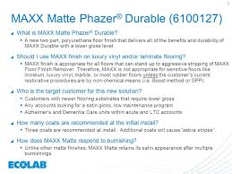 maxx matte phazer durable floor finish ppt