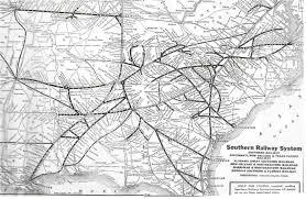 Railroad Map Usa by Southern