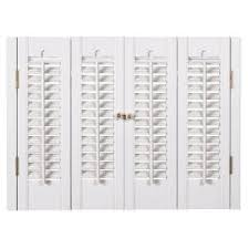 interior wood shutters home depot home depot home basics 31 in 33 in w x 28 in l traditional faux