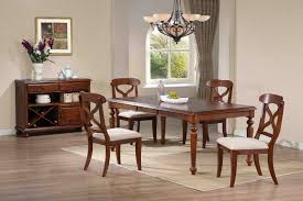 sunset trading 5pc andrews dining set in chestnut finish sunset