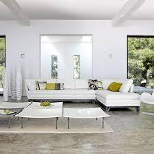 Beautiful White Modern Living Room Sets Minimalist Midcentury Home - White living room sets