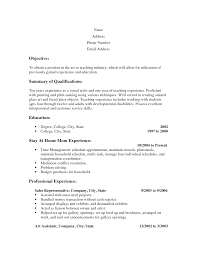 easy resume exles easy resumes sles paso evolist co
