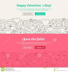 save the date website happy s day save the date line web banners set stock