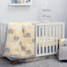 Elephant Twin Bedding Nojo The Dreamer Collection Elephant Yellow Grey 8 Piece Crib