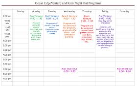ocean edge club ocean edgeventure kids program