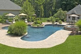 unique backyard pool designs landscaping pools walk in on design