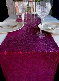 fuschia pink table cloth blowout sequin table runner fuchsia pink 12 x 108 on sale