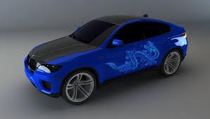 bmw x6 custom dragon paint job preview