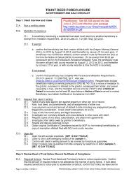 Power Of Attorney Form Oregon by Trust Deed Foreclosure Checklist Deed Of Trust Real Estate