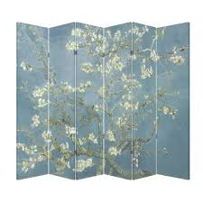 Plant Room Divider Amazon Com 6 Panel Office Wood Folding Screen Decorative Canvas