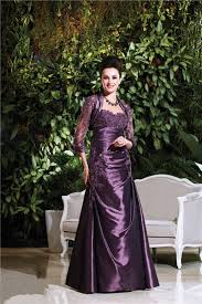 strapless long purple taffeta lace mother of the bride evening