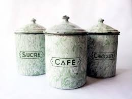 country kitchen canister sets enamelware mint green kitchen canisters set decor
