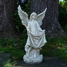northlight religious outdoor garden statue with birdbath or