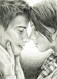 drawn kisses sketch pencil and in color drawn kisses sketch
