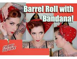 easy vintage barrel roll with bandana by dollface