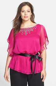 plus size blouses papell jeweled chiffon blouse plus size nordstrom