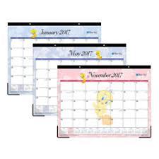 desk pad calendar 2017 blue sky desk pad calendar 22 x 17 50percent recycled looney tunes