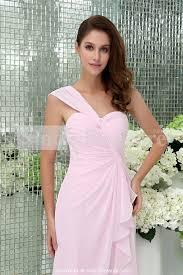 Light Pink Bridesmaid Dress Light Pink Bridesmaid Dress With One Shoulder Ipunya