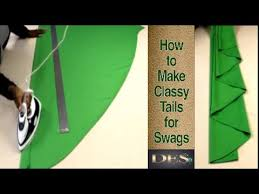 How To Make Curtain Swags How To Make Classy Tails For Swags Youtube