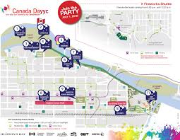 Calgary Map Commuting And Parking On Canada Day 2017