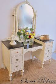 How To Paint A Vanity Top Best 25 Refinished Vanity Ideas On Pinterest Refurbished Vanity