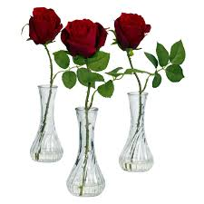 Small Centerpieces Simple Red Rose Centerpiece Set Of 3 Small Centerpieces
