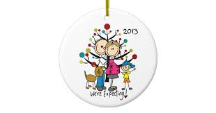 expectant with boy and family ornament zazzle