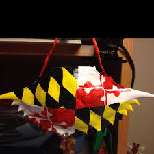 maryland flag crab shell ornament my has one of these but