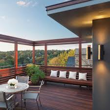 modern house roof deck exterior contemporary with wood