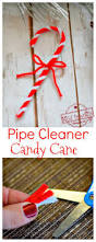 make a pipe cleaner candy cane craft ornament with the kids for